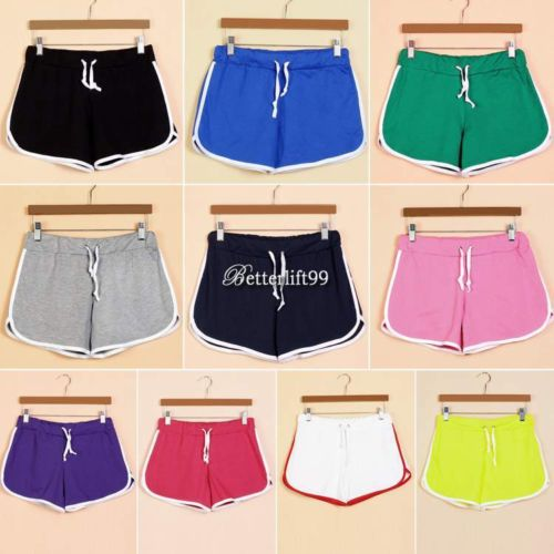 d25790ffb9d8 Women s Sexy Cotton Sports Shorts Casual Beach Running Slim Gym ...