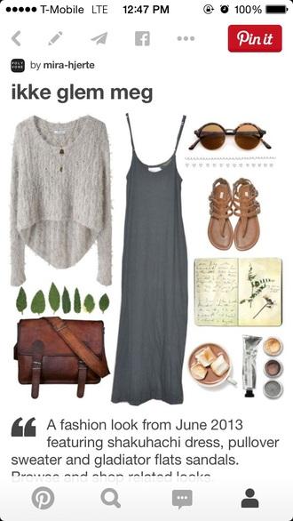 dress maxi dress maxi long dress grey dress style spagettistraps comfy loose dress fashion grey gray simple dress love bag