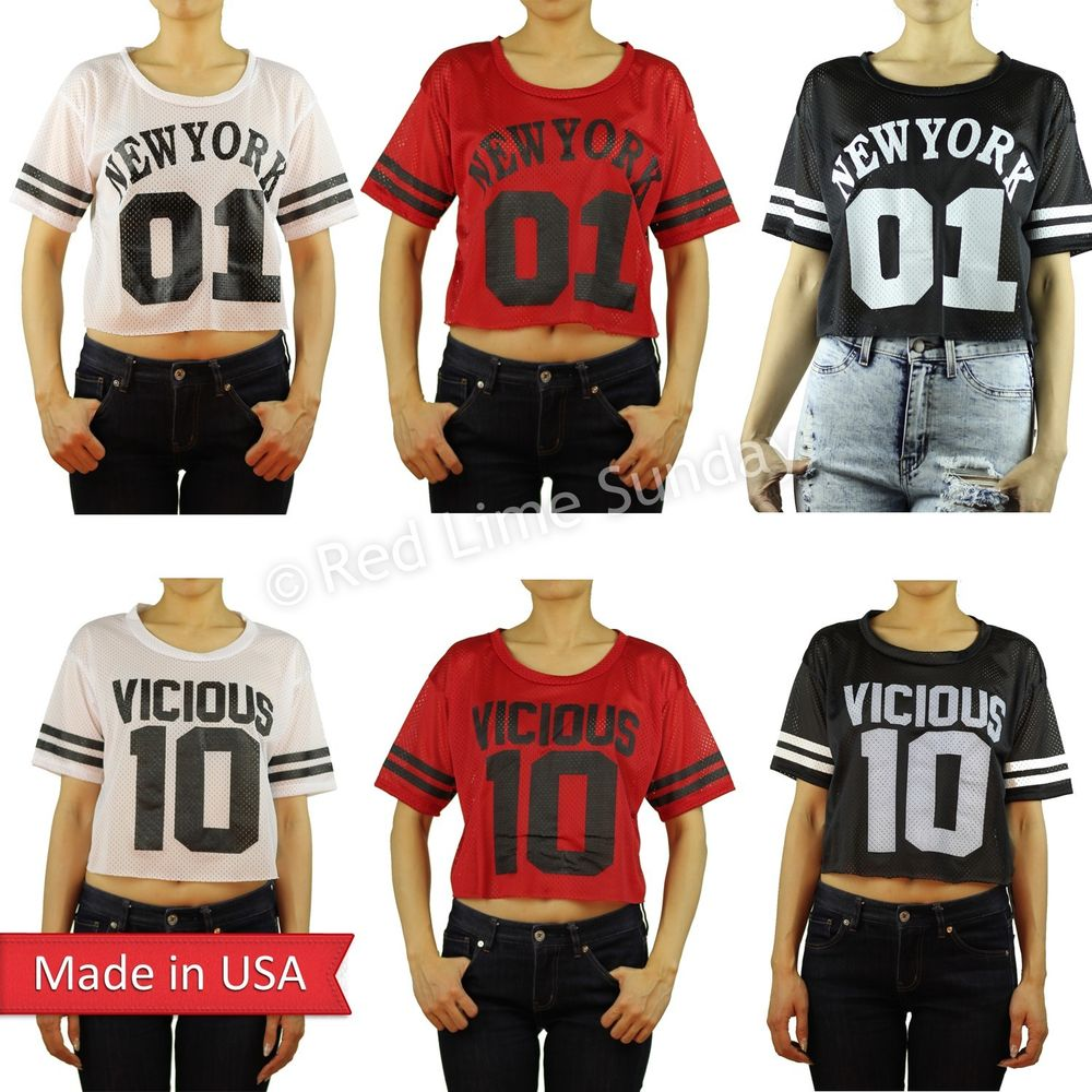 New american football game mesh new york ny vicious oversized tee top shirt usa