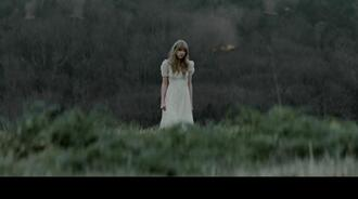 white summer dress white dress long taylor swift short sleeve dress warm grass outside asap long dress short sleeve warm/earthtone spring laces lace dress