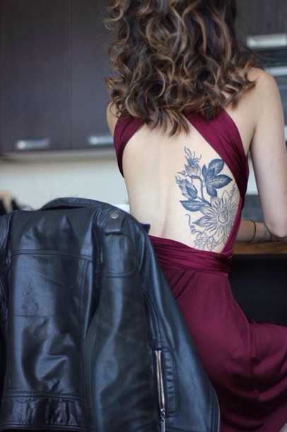 coat jacket dress dark red/burgundy dress open back prom dress