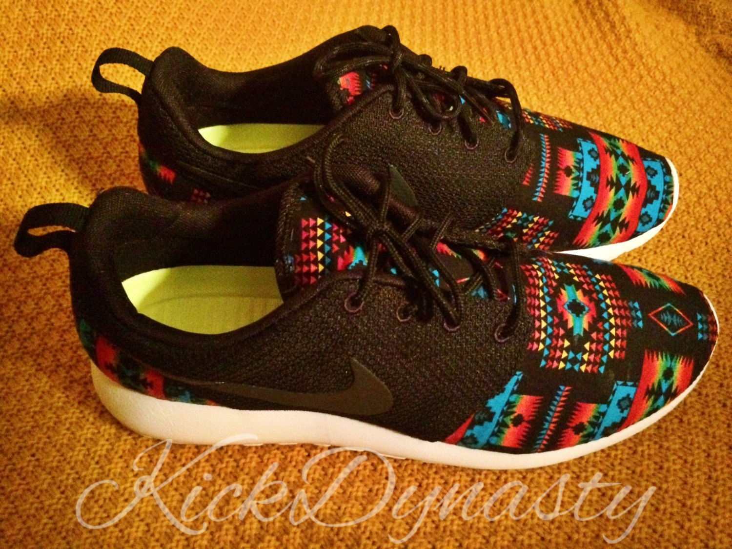 4cdc9f3e5508 Tribal Aztec Nike Roshe Run Custom Sneakers