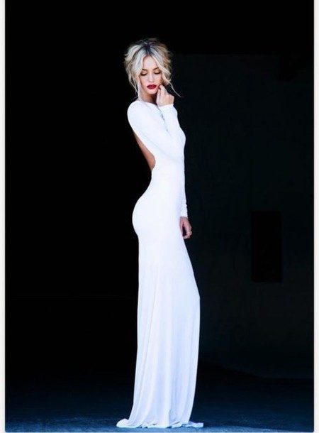 Full Length White Dress - RP Dress