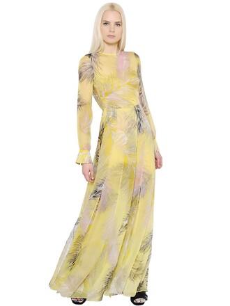 dress chiffon dress chiffon silk yellow