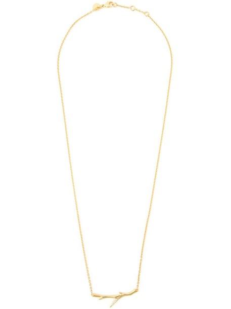 SHAUN LEANE cherry women necklace diamond necklace gold silver grey metallic jewels
