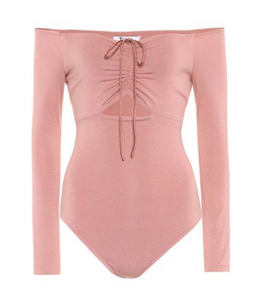 T by Alexander Wang bodysuit pink underwear