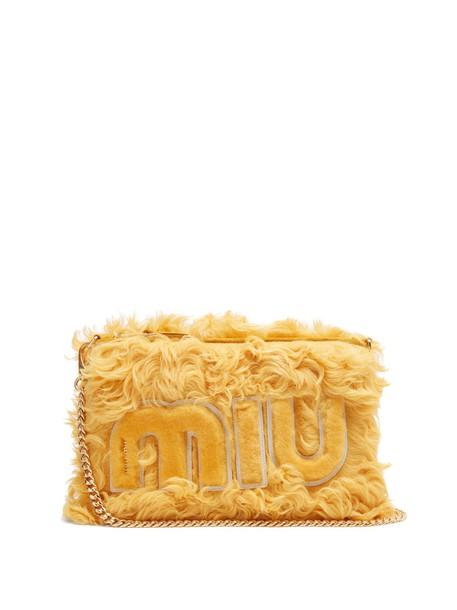 Miu Miu pouch yellow bag