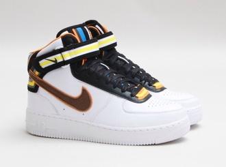 shoes sneakers nike sneakers tisci nike tisci blanc noir colors orange bleu jaune yellow style couleurs mens shoes white sneakers