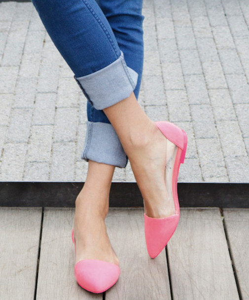 Blue Flat Shoes Outfit