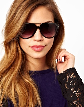 Jeepers Peepers | Jeepers Peepers Aaron Black Sunglasses at ASOS