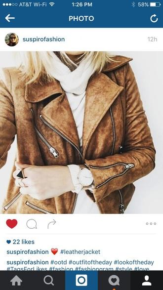 coat suede suede motto jacket leather motorcycle jacket moto brown suede fringe jacket suede jacket