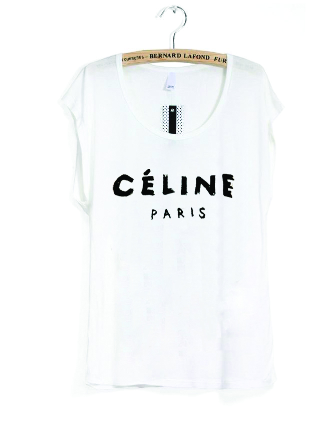 White Short Sleeve Top - celine the women's tee | UsTrendy
