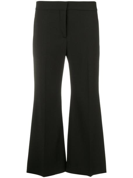 Valentino cropped women spandex black wool pants