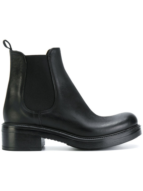 women classic chelsea boots leather black shoes