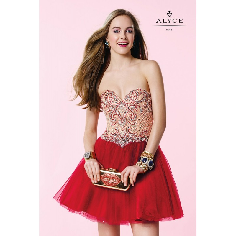 c5bacca0cd8 Alyce Paris 3652 Different Short Party Dress - Brand Prom Dresses ...