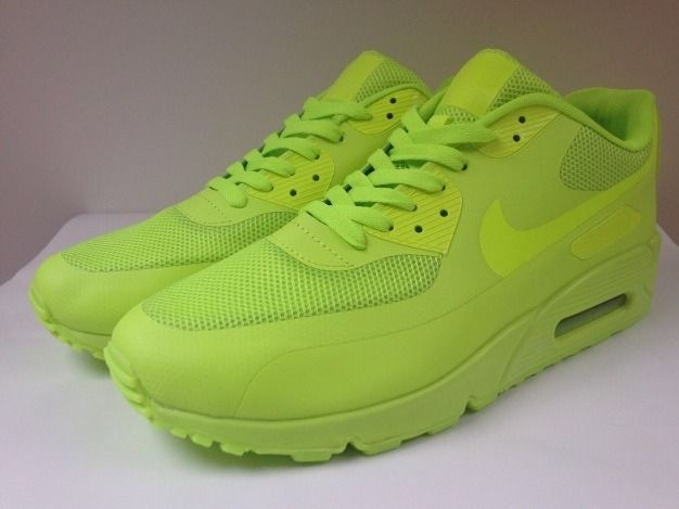 NIKE AIR MAX 90 HYPERFUSE PREMIUM NEON GREEN UK 5.5 ... 670a369c76