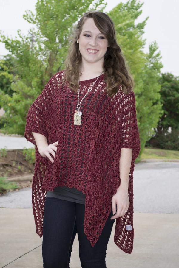 blouse knitwear top shopsiloe fallcollection burgundy