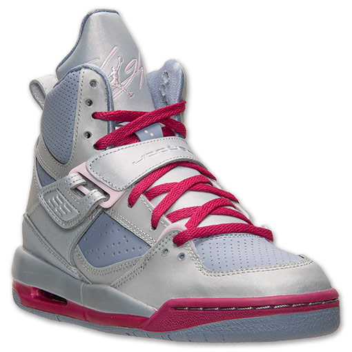 Girls' Jordan Grade School Flight 45 High Basketball Shoes | FinishLine.com |