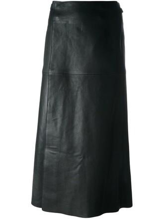 skirt wrap skirt candy black