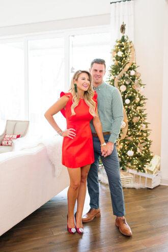 shop dandy blogger dress shoes jewels shirt pants belt christmas christmas dress red dress pumps