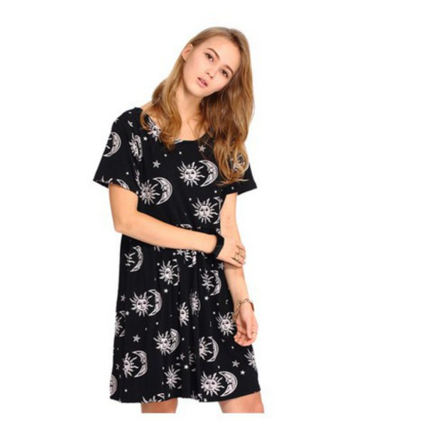 dress sun sun and stars black blackless stars blackless dress