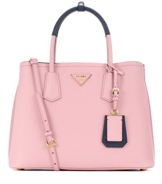 Prada leather pink bag