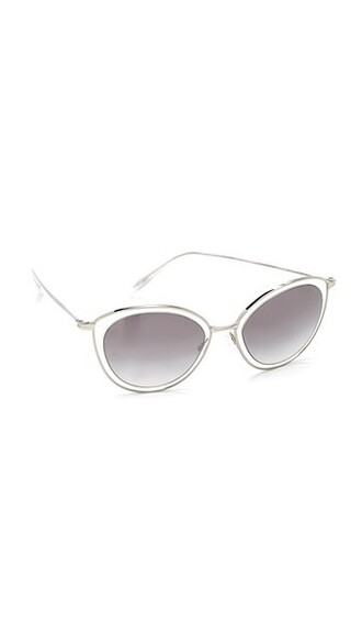 clear sunglasses silver