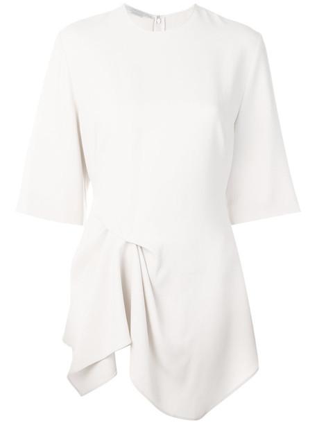 Stella McCartney - draped blouse - women - Spandex/Elastane/Acetate/Viscose - 44, Nude/Neutrals, Spandex/Elastane/Acetate/Viscose
