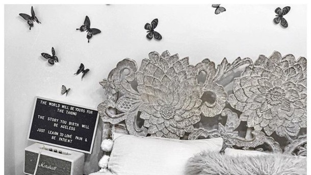 Home Accessory Bed Frame Vintage Lux Bedding Boho Decor