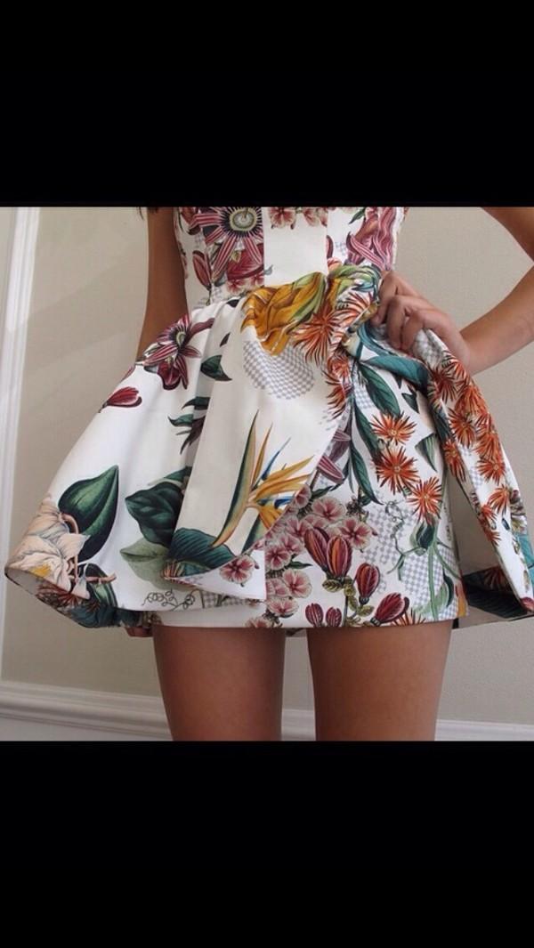 dress white dress women's floral