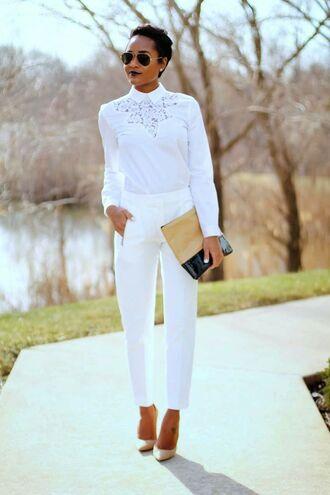white shirt white