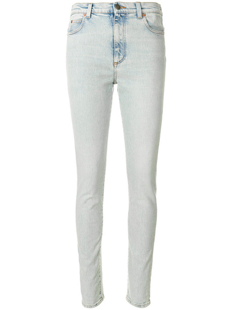 gucci jeans skinny jeans women spandex leather cotton blue