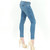Knee cut stretch slim fit distressed skinny ankle jeans by Just USA