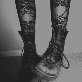 tights floral grunge pop punk rock