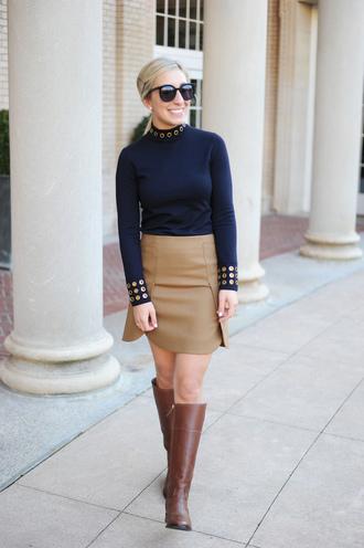 lemon stripes blogger sweater skirt shoes bag