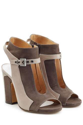 open boots ankle boots suede brown shoes