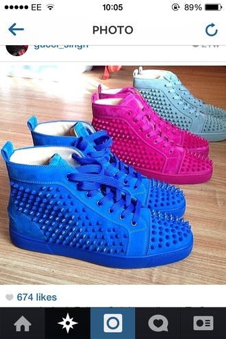 shoes spikes sneakers spike sneakers loboutins designer high top ankle sneakers trainers