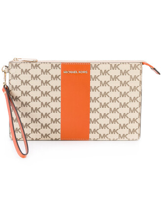 women clutch leather nude cotton print bag