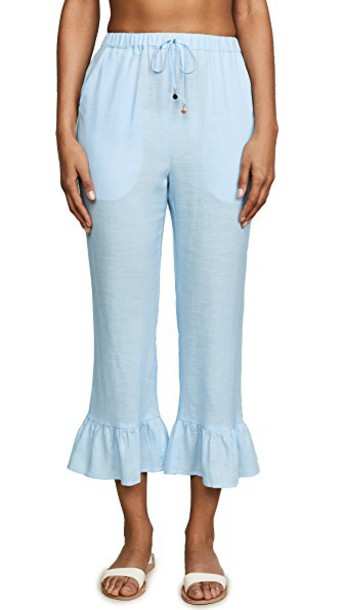 6 Shore Road pants beach pants beach california blue sky blue