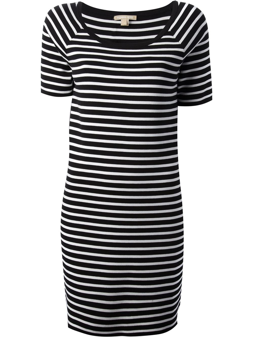Michael Kors Striped T-shirt Dress - Luisa World - Farfetch.com