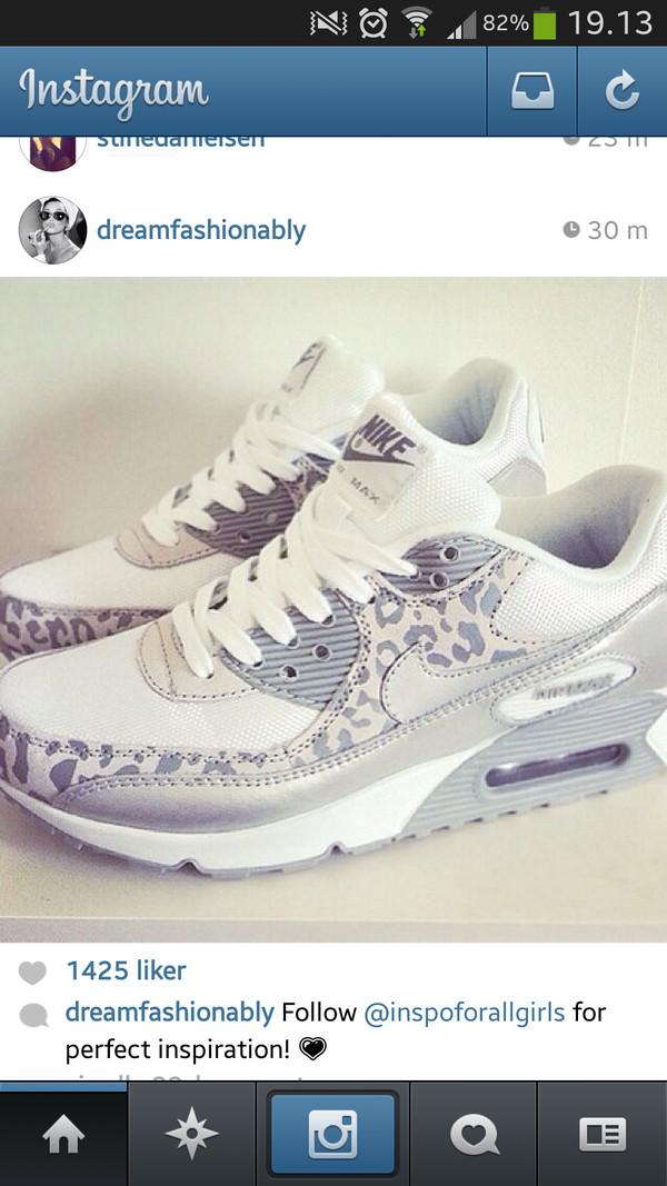 the best attitude 6d8ac 21cb2 shoes, nike, leopard print, grey, metallic, air max, nike air max 90 ...