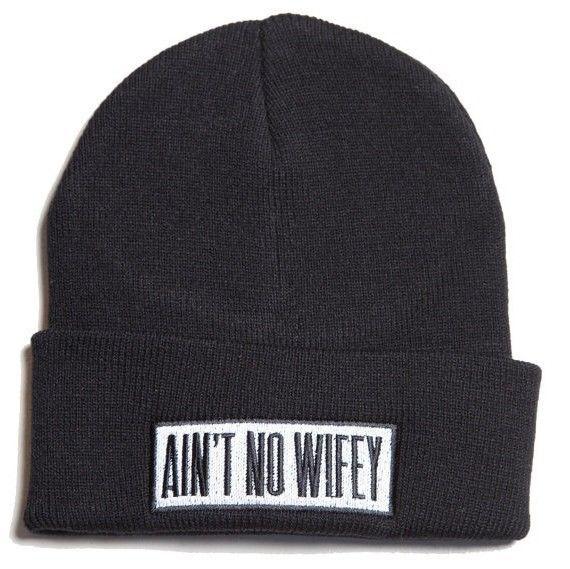 New Ain'T No Wifey Cuffed Beanie Skull Cap Hat Hip Hop Cap Black | eBay