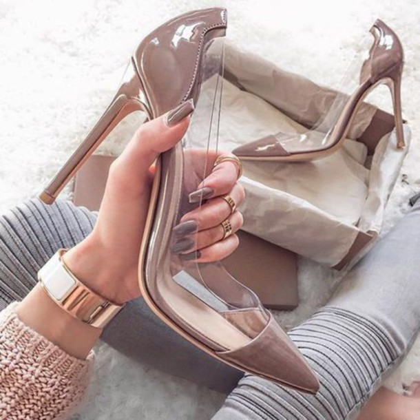 6217061a3d shoes heels pointed toe pointed toe pumps pumps nude nude heels designer  clear clear shoes acrylic