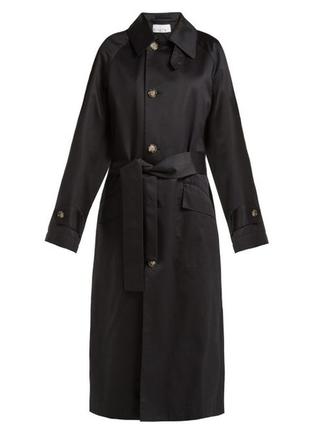 coat trench coat back navy cotton