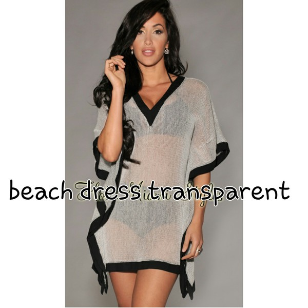 sexy beach dress beach transparent dress