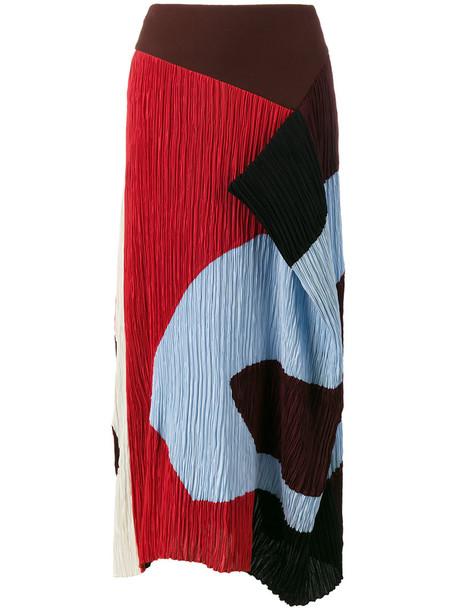 Roksanda skirt women draped silk
