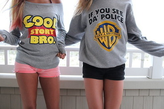 jacket celebrity style sweater cool story bro if you see da police warn brother if you see the police warn a brother if you see the police warn a brother grey shorts shirt coolstorybro wb cool