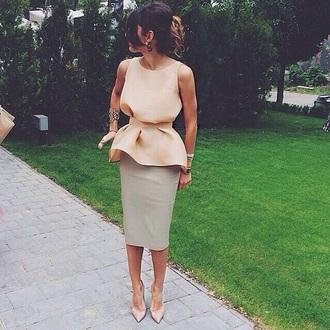 blouse top skinny pencil skirt white blouse