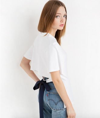 blouse white white blouse short sleeve bow back to school fall outfits