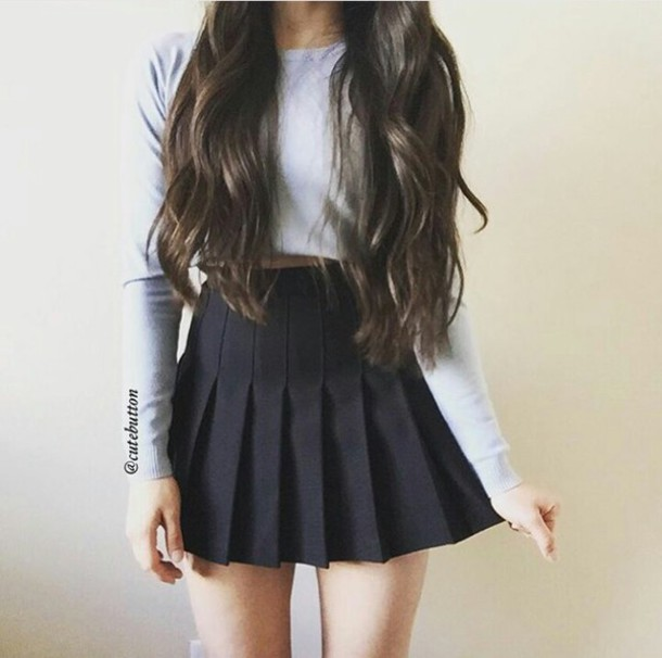 Skirt black fashion outfit tumblr outfit tumblr clothes indtagram outfit - Wheretoget